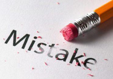 اشتباه فاجعه نیست